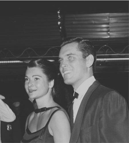 Jeffrey Hunter  Dusty Bartlett  wife