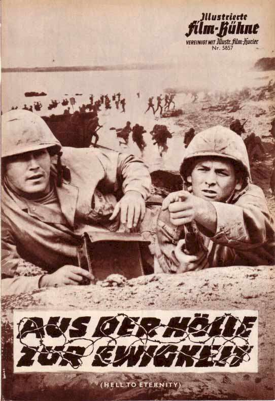 Hell to Eternity  Jeffrey Hunter  David Janssen  German movie program