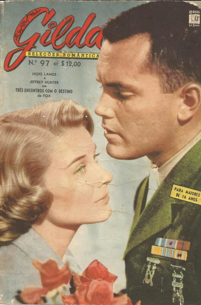 Jeffrey Hunter  cover photo  Hope Lange