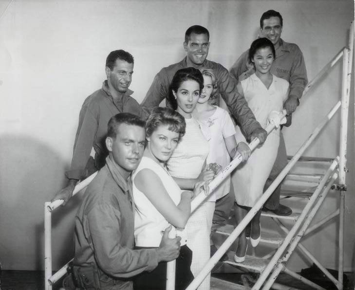 In Love and War  Jeffrey Hunter  Hope Lange  Robert Wagner  Bradford Dillman   France Nuyen   Sheree North   Dana Wynter