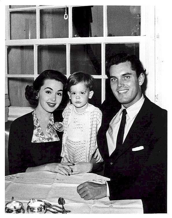 Jeffrey Hunter  Barbara Rush  wife  son Chris