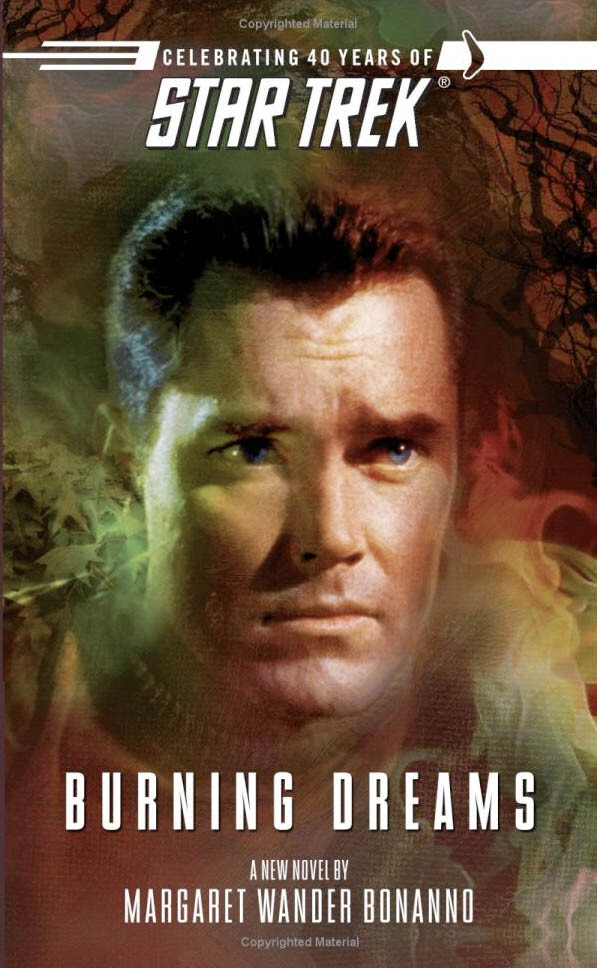 Jeffrey Hunter  Star Trek book cover  Burning Dreams