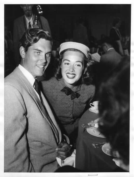 Jeffrey Hunter  Barbara Rush  wife