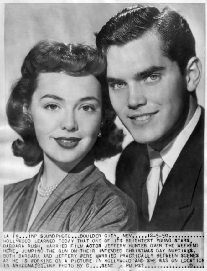 Jeffrey Hunter  Barbara Rush  wife  marriage