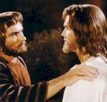 King of Kings  Jeffrey Hunter  Rip Torn  Judas betrays Jesus