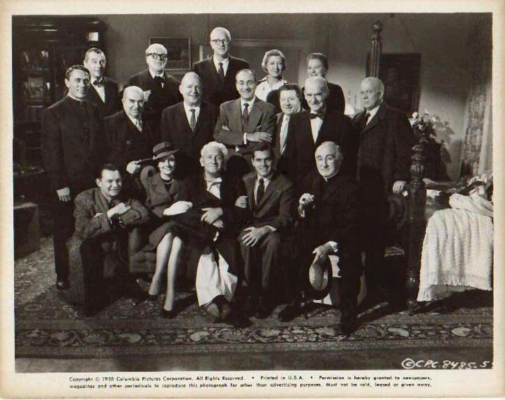 The Last Hurrah  Spencer Tracy  Jeffrey Hunter  Dianne Foster  John Carradine  Pat O'Brien  cast photo