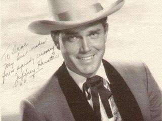 The Man from Galveston  Jeffrey Hunter  autographed photo