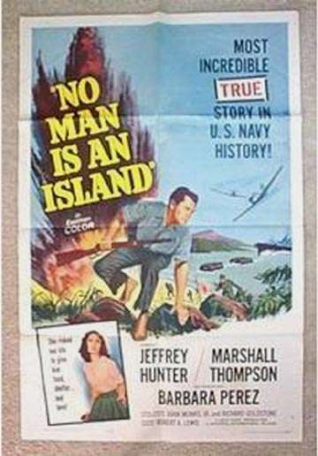 No Man is an Island  Jeffrey Hunter  Marshall Thompson  Barbara Perez  movie poster