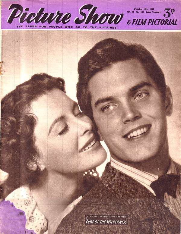 Jeffrey Hunter  cover photo  Constance Smith