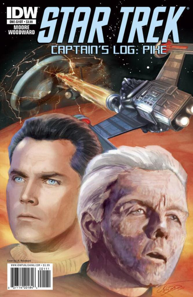Jeffrey Hunter  Star Trek comic book cover  Captain's Log: Pike