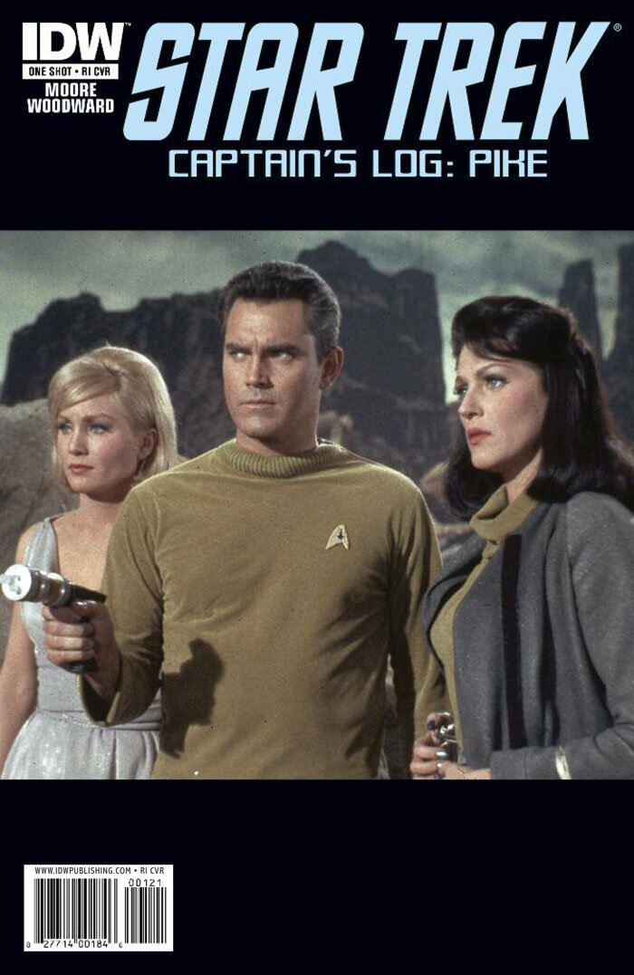 Jeffrey Hunter  Star Trek comic book cover  Captain's Log: Pike  Susan Oliver  Majel Barrett