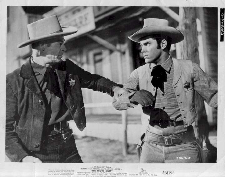 The Proud Ones  Jeffrey Hunter  Robert Ryan