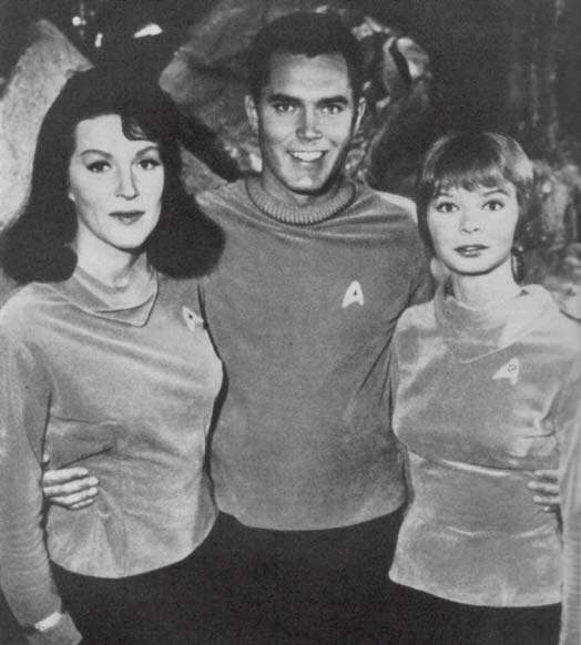 Jeffrey Hunter  Captain Christopher Pike  Star Trek  Majel Barrett  Laurel Goodwin