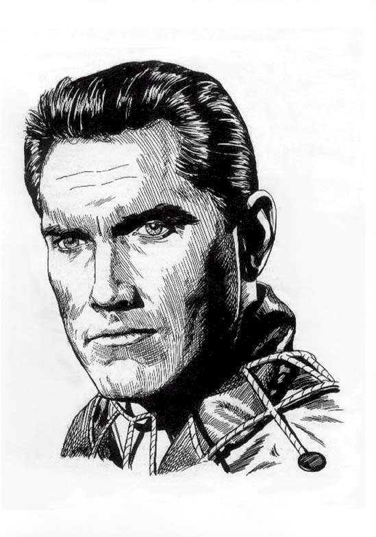 Jeffrey Hunter  Captain Christopher Pike  Star Trek  sketch