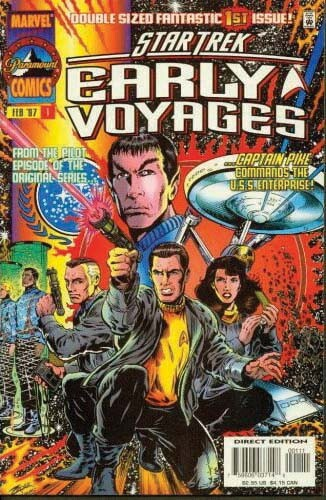 Jeffrey Hunter  Star Trek comic book cover  Early Voyages