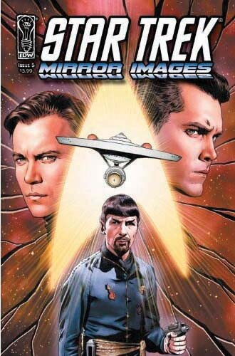 Jeffrey Hunter  Star Trek comic book cover  William Shatner  Leonard Nimoy  Mirror Images
