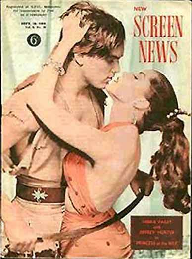 Jeffrey Hunter  cover photo  Debra Paget