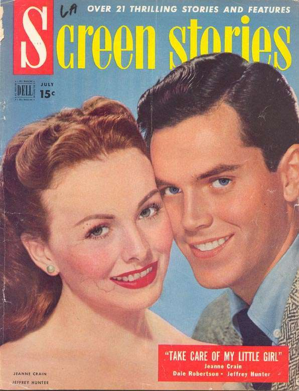 Jeffrey Hunter  cover photo  Jeanne Crain