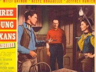 Three Young Texans  Jeffrey Hunter  Mitzi Gaynor  Harvey Stephens