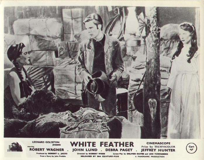 White Feather  Debra Paget  Robert Wagner  Virginia Leith