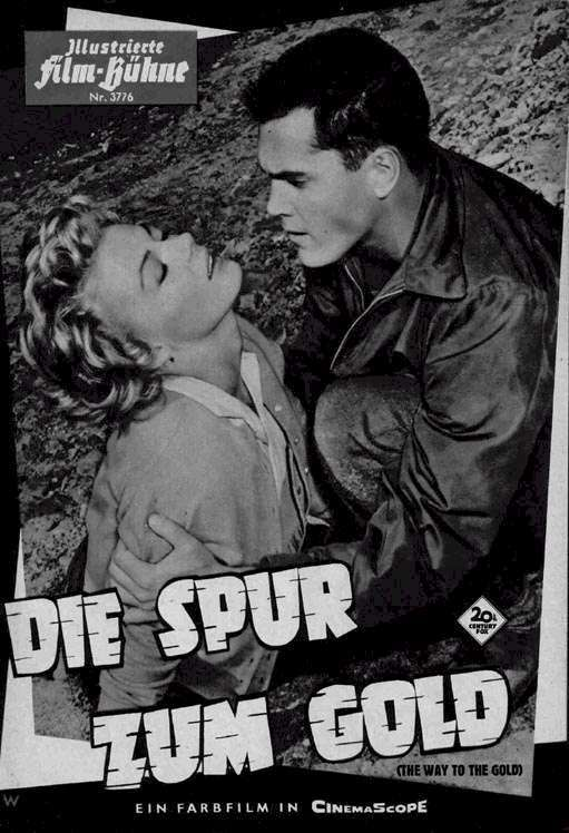 The Way to the Gold  Jeffrey Hunter  Sheree North  German movie program