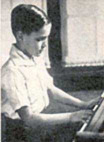 Jeffrey Hunter as a child