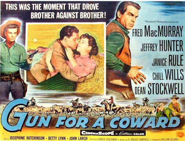 Gun for a Coward  Jeffrey Hunter  Janice Rule  Fred MacMurray  poster