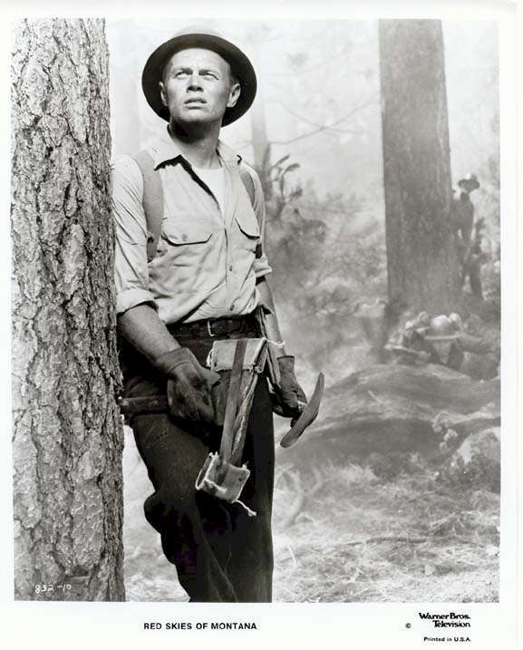 Red Skies of Montana  Richard Widmark