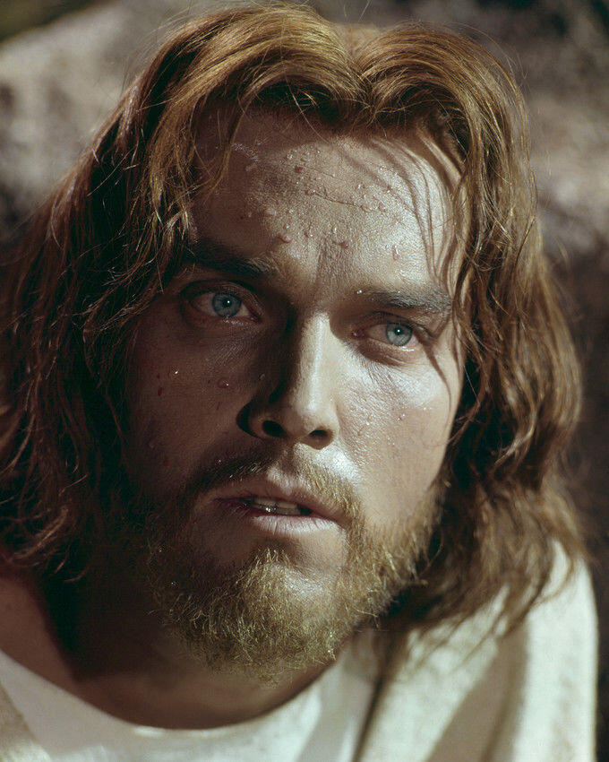King of Kings  Jeffrey Hunter  In Garden of Gethsemane  Sweating blood
