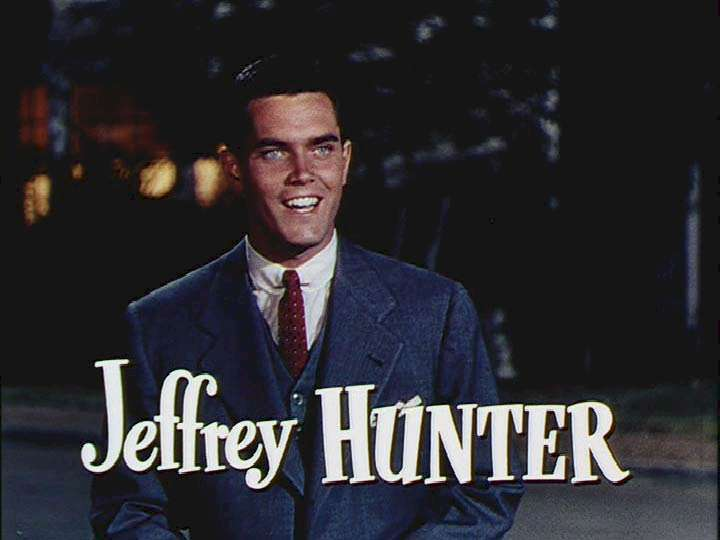 Jeffrey Hunter during the title sequence for Belles on Their Toes