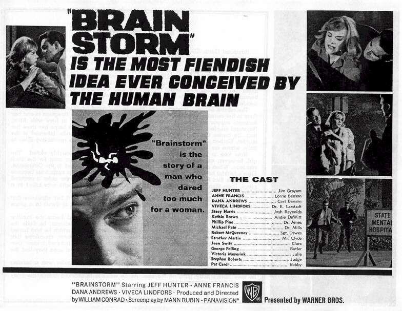 Brainstorm Flyer Jeffrey Hunter