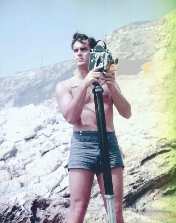 Jeffrey Hunter  swimsuit