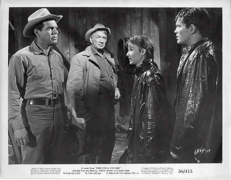 Gun for a Coward  Jeffrey Hunter  Janice Rule  Fred MacMurray  Chill Wills