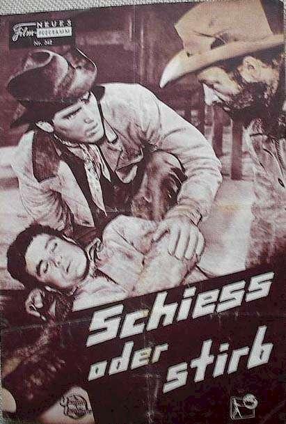 Gun for a Coward  Jeffrey Hunter  German movie program
