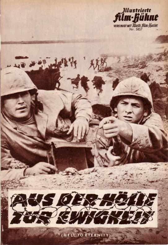 Hell to Eternity Jeffrey Hunter David Janssen German movie program