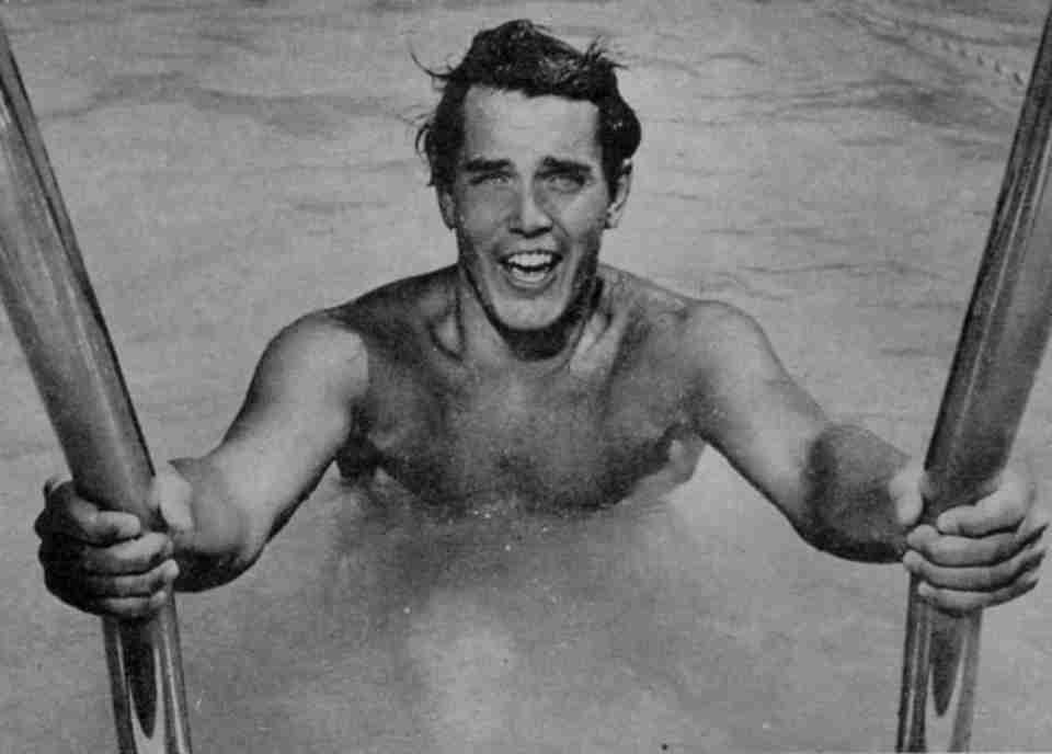 Jeffrey Hunter  in pool