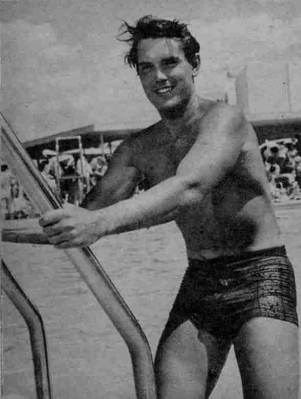Jeffrey Hunter swimsuit