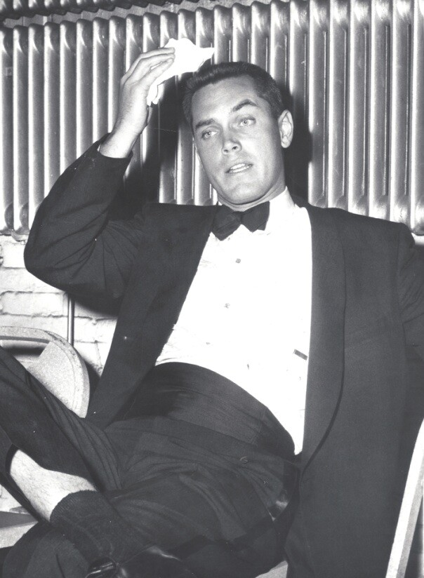 Jeffrey Hunter  The Last Hurrah premiere   Boston