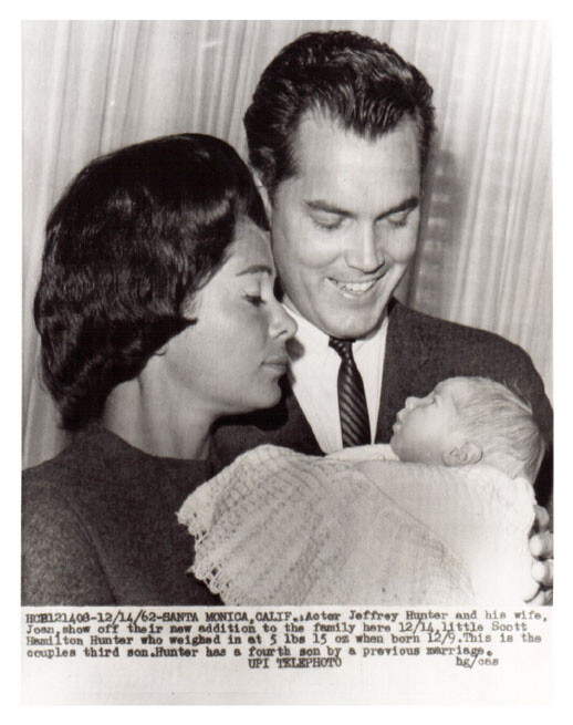 Jeffrey Hunter  Dusty Bartlett  wife  Scott
