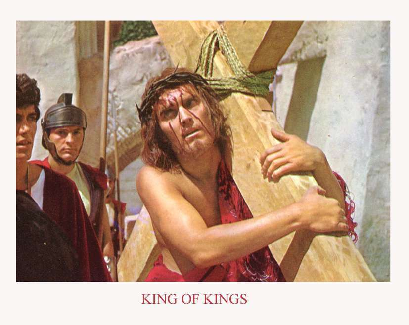 King of Kings  Jeffrey Hunter  Jesus carries His cross