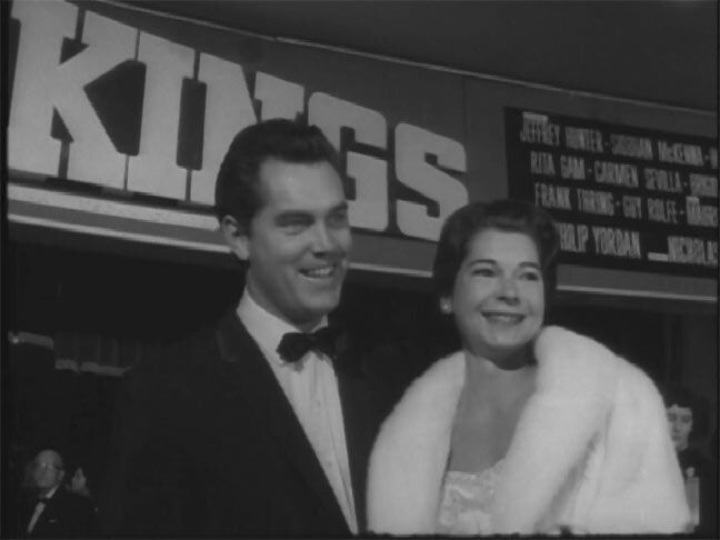 King of Kings  Jeffrey Hunter  Dusty Bartlett  wife  film premiere  Egyptian Theater  Hollywood