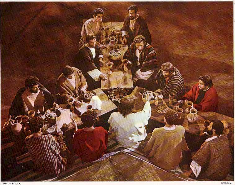 King of Kings  Jeffrey Hunter  Last Supper