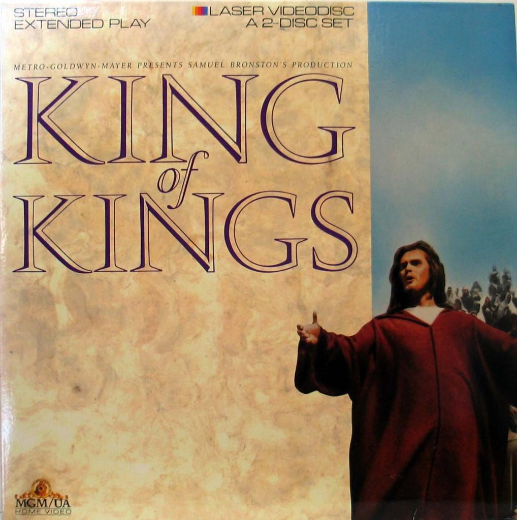 King of Kings  Jeffrey Hunter  laser disc cover  Sermon on the Mount photo