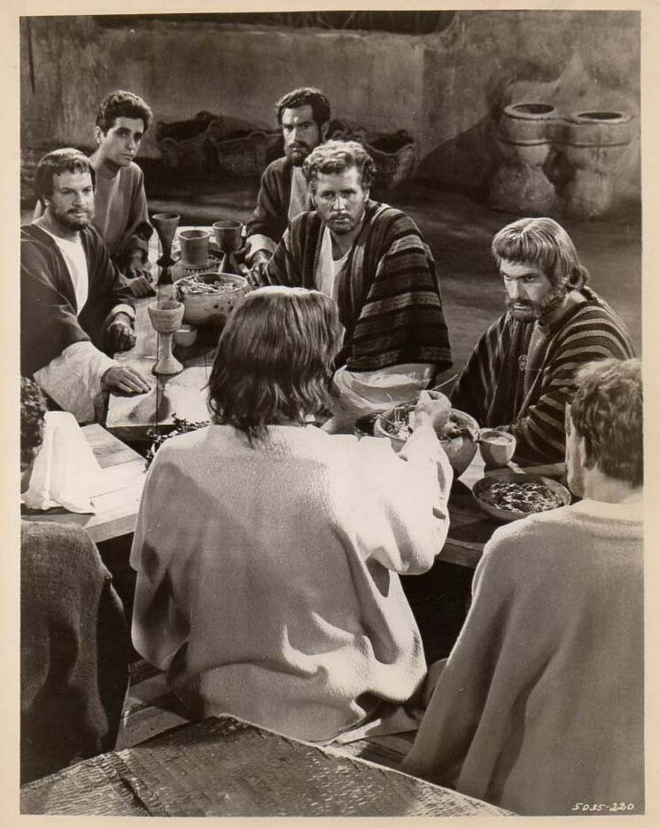 King of Kings  Jeffrey Hunter  Rip Torn  Last Supper