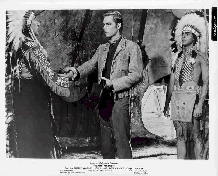 White Feather  Jeffrey Hunter  Robert Wagner  Eduard Franz