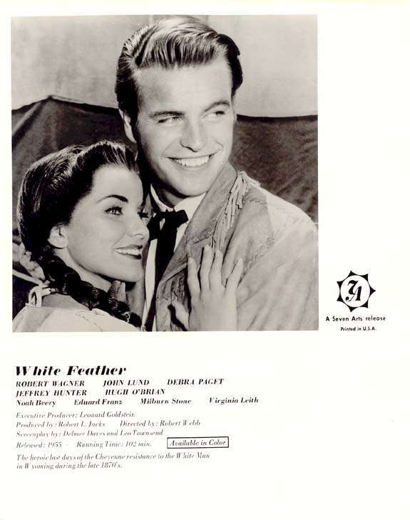 White Feather  Debra Paget   Robert Wagner