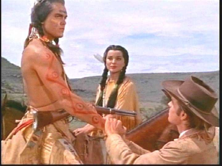 White Feather  Jeffrey Hunter  Robert Wagner  Debra Paget