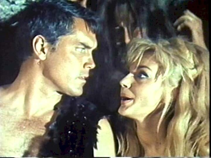 """Jeffrey Hunter with Maria Perschy in """"A Witch Without a Broom"""""""