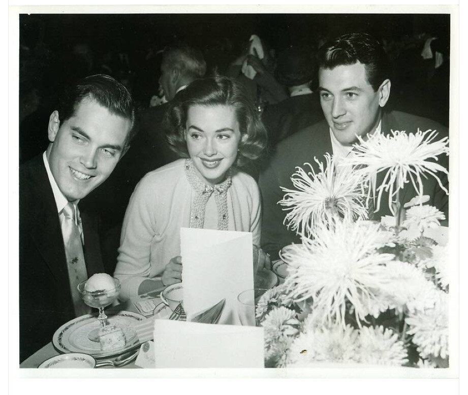 Jeffrey Hunter  Barbara Rush  wife  Rock Hudson
