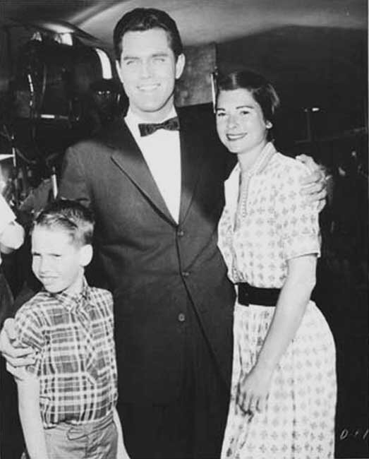 Jeffrey Hunter  Dusty Bartlett  wife  son Steels